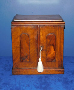 Ladies Victorian Walnut Jewellery Cabinet