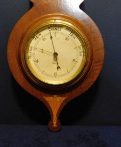 Edwardian Inlaid Mahogany Barometer