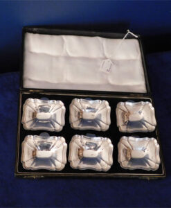 Box of Six Silver Clip-On Dishes