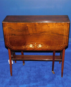 Edwardian Inlaid Rosewood Sutherland Table