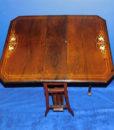 Edwardian Inlaid Rosewood Sutherland Table