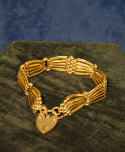 Edwardian 9ct Gold Gate Bracelet