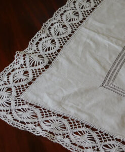 Large Irish Linen Tablecloth
