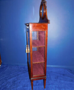 EdEdwardian Inlaid Mahogany Hand Painted Display Cabinetwardian Inlaid Mahogany Display Cabinet