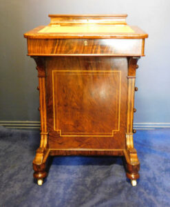 Victorian Inlaid Burr Walnut Davenport