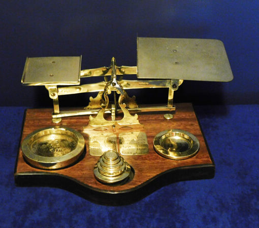 Late Victorian Brass Postal Scales