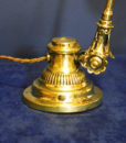 Early Edwardian Adjustable Brass Table Lamp